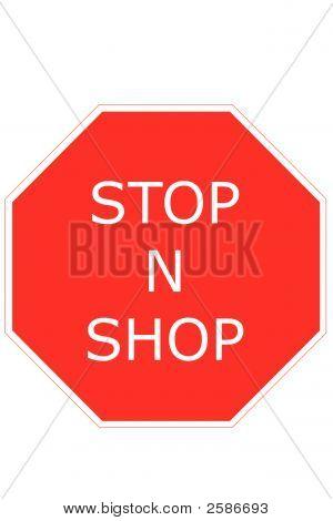 Stop  N  Shop Sign Art