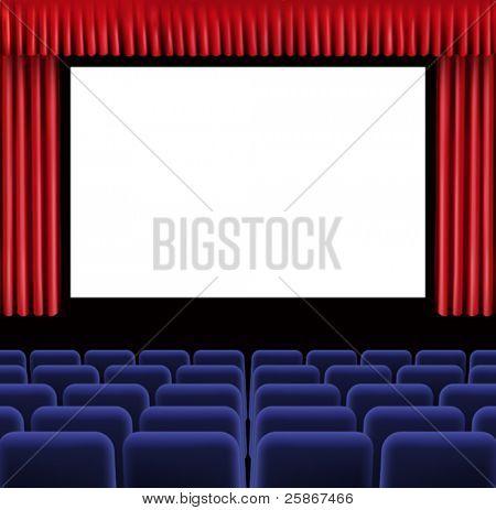 vector illustration of Hall of cinema