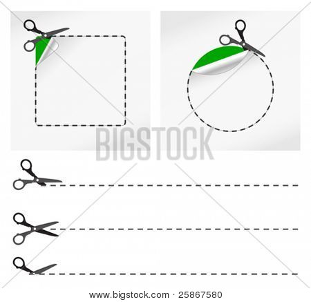 vector illustration of Scissors. Vector sticker