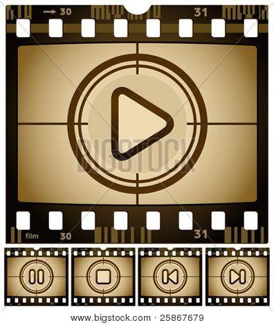 vector illustration of Media buttons