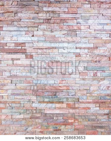 Orange Pink Rock Layers Wall For Texture Background