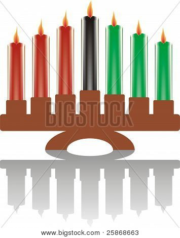 seven kwanzaa candles in vector - illustration for a holiday poster