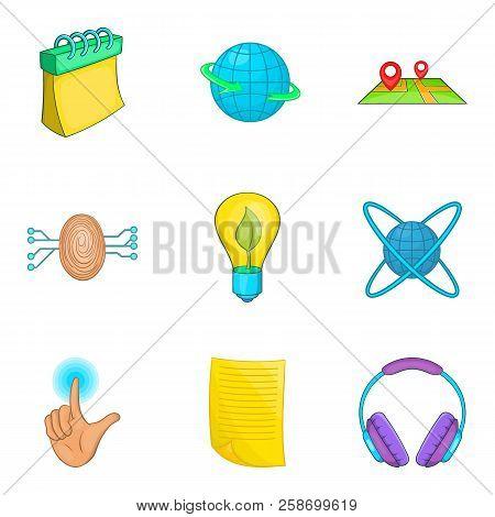 Career Icons Set. Cartoon Set Of 9 Career Icons For Web Isolated On White Background