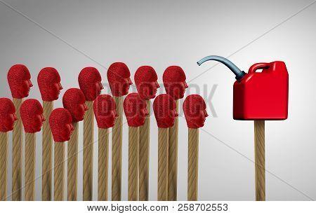 Gaslighting Psychology Concept As Manipulating Using Psychological Communication To Destabilize As M