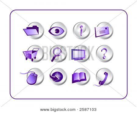 Icon Set Purple-Silver
