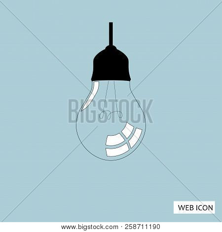 Light Lamp Icon Vector.    Jpeg.    Picture.    Image.    Art.    Jpg.    Eps.    Ai. Stock