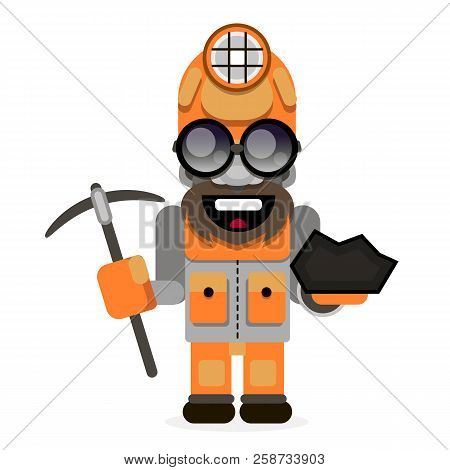 Illustration Of A Coal Miner Striking Working Retro Background