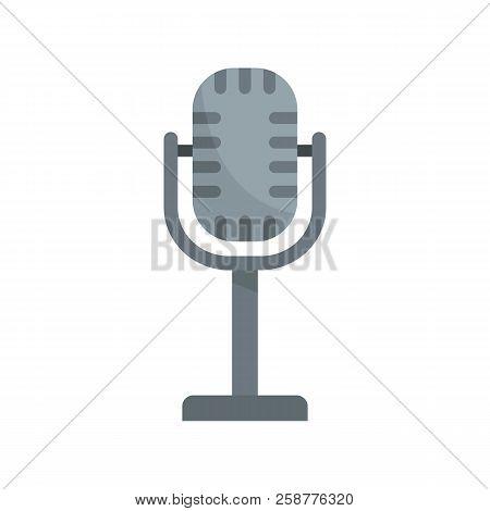 Studio Microphone Icon. Flat Illustration Of Studio Microphone Vector Icon For Web Design