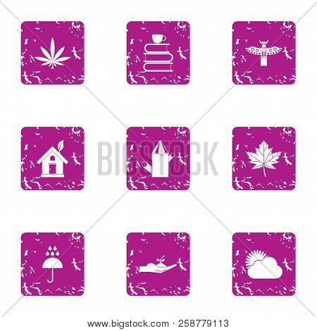 Economic Knowledge Icons Set. Grunge Set Of 9 Economic Knowledge Vector Icons For Web Isolated On Wh