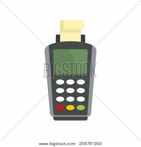 Pay By Terminal Money Icon. Flat Illustration Of Pay By Terminal Money Vector Icon For Web Design