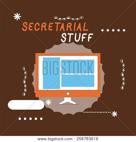 Writing Note Showing Secretarial Stuff. Business Photo Showcasing Secretary Belongings Things Owned