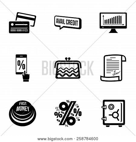 Cash Difference Icons Set. Simple Set Of 9 Cash Difference Vector Icons For Web Isolated On White Ba
