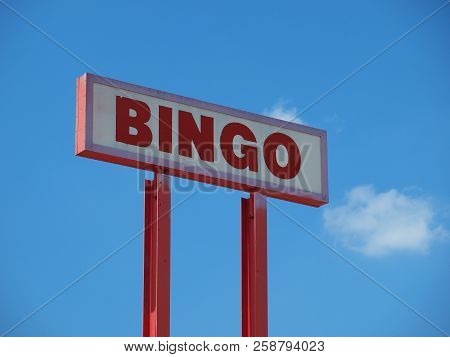 An Old Bingo Sign Still Shows Life Long After The Parlor Closed.