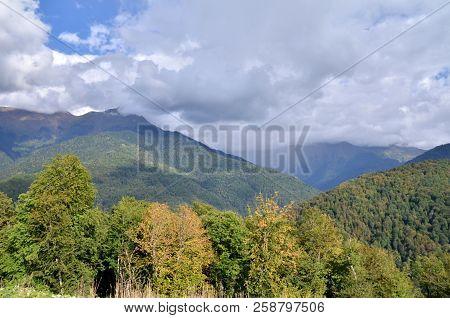 View Of The Ridge Achishkho, Sochi, Russia