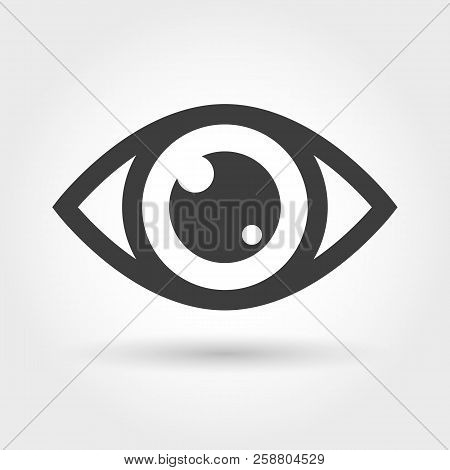 Eye Icon. View Icon Isolated On White Background, Glance Vision Sign, Sight Or Looking Or Watch Vect