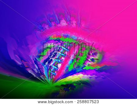 Abstract  Vibrant Multicolor 3d Rendered Illustration Background For Design