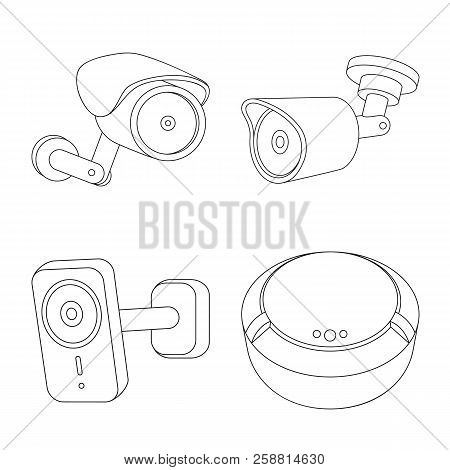isolated object cctv vector photo free trial bigstock Barcode Reader isolated object of cctv and camera logo collection of cctv and system stock symbol for