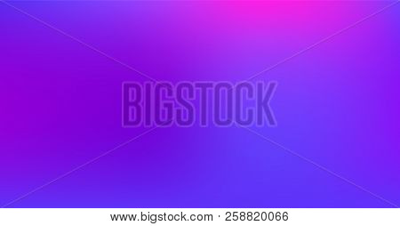 Vibrant Dreamy Purple Blue Gradient Vector Background. Sunrise, Sunset, Color Overlay, Sky, Water Ne