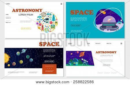 Flat Space Websites Vector & Photo (Free Trial) | Bigstock