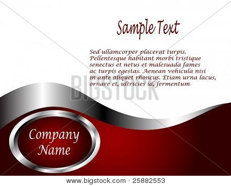 A deep red and Silver and white vector Business card or Background Template