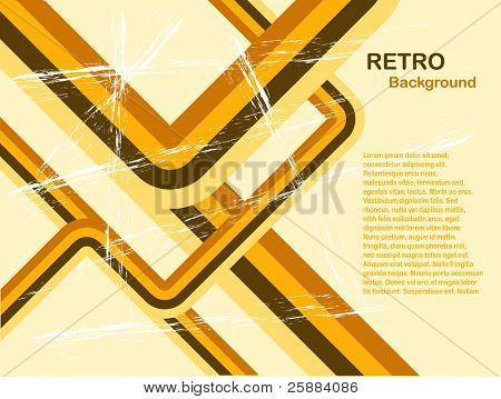 Abstract Orange retro background with room for copy