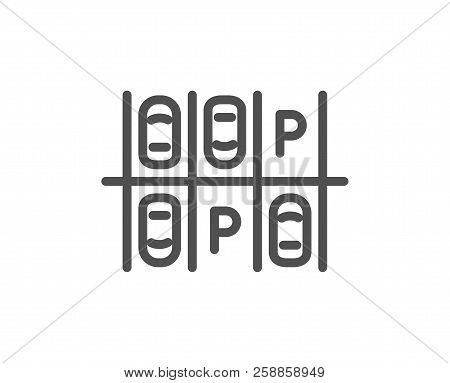 Parking Place Line Icon. Car Park Sign. Transport Symbol. Quality Design Element. Classic Style Park