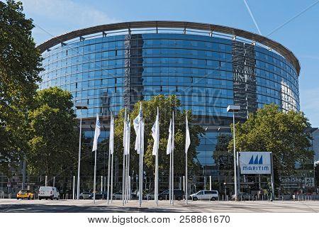 Frankfurt, Germany-september 16, 2018: The Congress Center Messe (trade Fair) Frankfurt Am Main, Ger