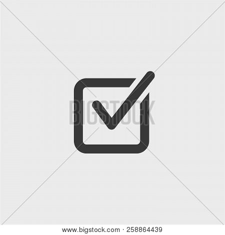 Done Flat Vector Icon. Approve Flat Vector Icon. Ok Flat Vector Icon. Confirm Flat Vector Icon