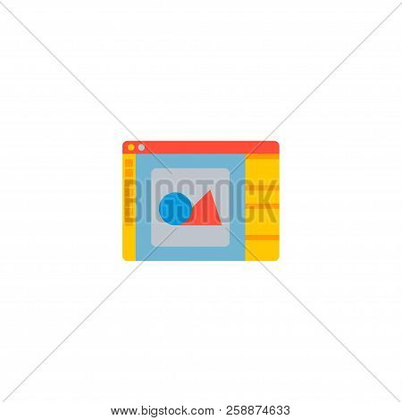Design Software Icon Flat Element. Vector Illustration Of Design Software Icon Flat Isolated On Clea