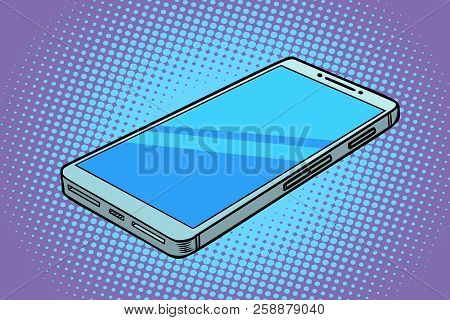 Smartphone Phone Gadget. Comic Cartoon Pop Art Retro Vector Illustration
