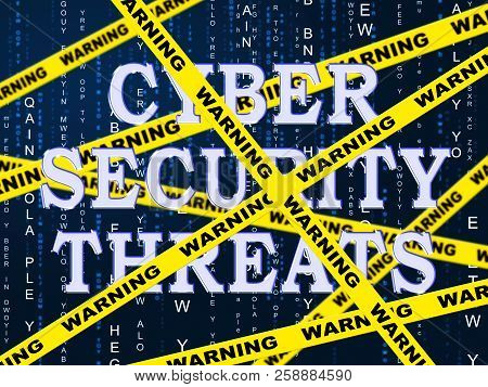 Cybersecurity Threats Cyber Crime Risk 2D Illustration