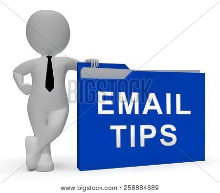 Email Tips Online Postal Solution 3D Rendering