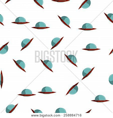 Flying Saucer Colored Icon In Pattern Style. One Of Ufo Collection Icon Can Be Used For Ui, Ux