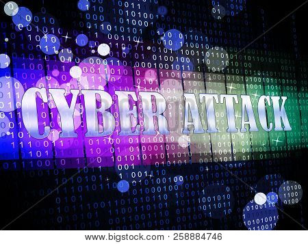 Cyberattack Malicious Cyber Hack Attack 3D Illustration