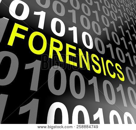 Cyber Forensics Computer Crime Analysis 3D Illustration