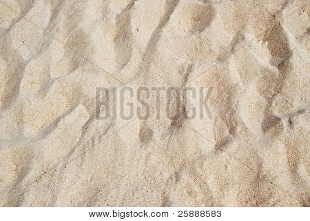 Texture of White Beach Sand