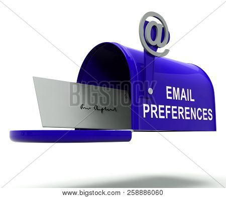 Email Preferences Mailbox Profile Settings 3D Rendering
