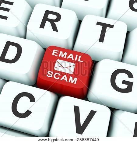 Phishing Scam Email Identity Alert 3D Rendering