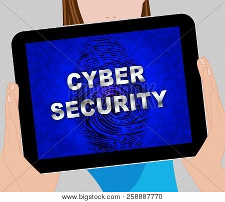 Cybersecurity Technology Hightech Security Guard 2D Illustration