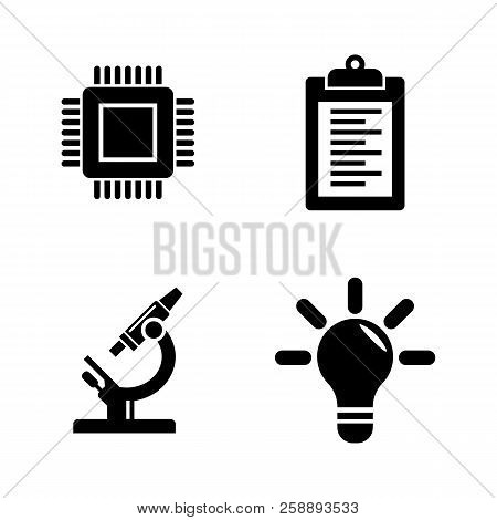 Research, Development. Simple Related Vector Icons Set For Video, Mobile Apps, Web Sites, Print Proj