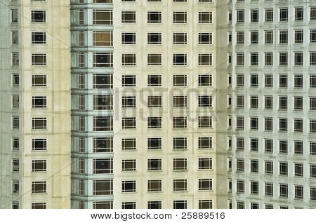 Appartment Building Closeup Patterned Abstract