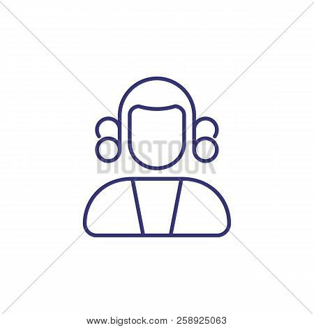 Judge Line Icon. Court, Lawsuit, Trial. Justice Concept. Vector Illustration Can Be Used For Topics