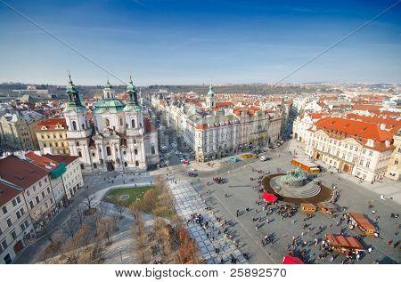 St. Nicholas Church and the Old Town Square, Prague, Czech Republic