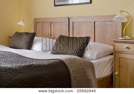 Cosy hotel bedroom for two