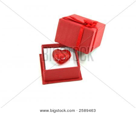 Heart Stone In Red Gift Box
