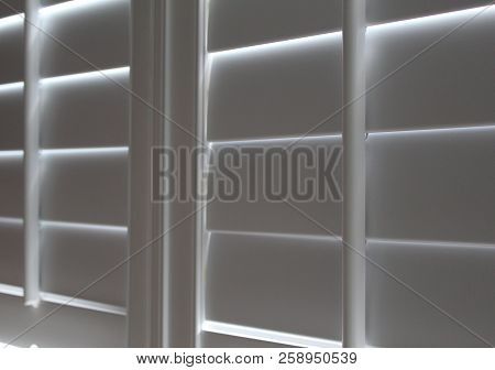 Right Side Angle Of Closed Plantation Shutters