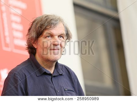 Director Emir Kusturica attends 'El Pepe, A Supreme Life (El Pepe, Una Vida Suprema)' photocall during the 75th Venice Film Festival at Sala Casino on September 3, 2018 in Venice, Italy.