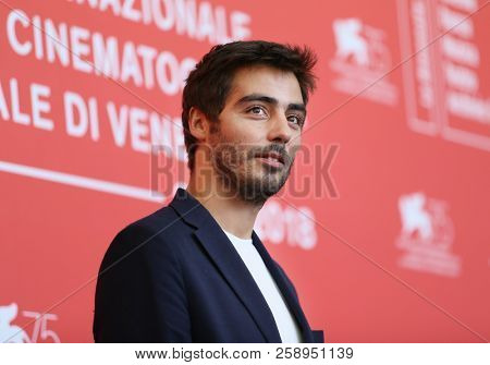 Vladimir Consigny attends 'At Eternity's Gate' photocall during the 75th Venice Film Festival at Sala Casino on September 3, 2018 in Venice, Italy.