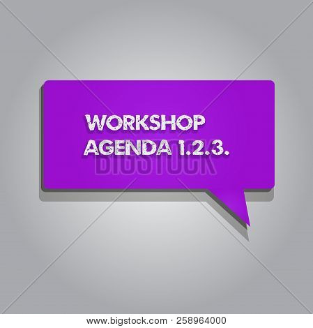 Handwriting text writing Workshop Agenda 1.2.3.. Concept meaning help to ensure that Event Stays on Schedule poster