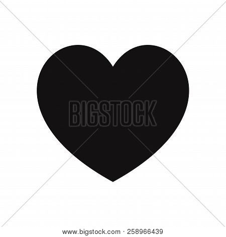Heart Icon Isolated On White Background. Heart Icon In Trendy Design Style. Heart Vector Icon Modern